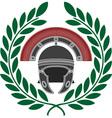 Roman helmet and wreath stencil vector