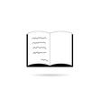 Book icon in black vector