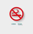 Logo no smoking vector