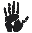 Black print of a hand vector