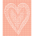 White heart on a pink background squared vector