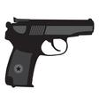 Makarov pistol pm silhouette vector