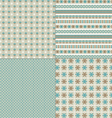 Embroidery patterns vector