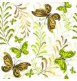 White effortless floral wallpaper vector