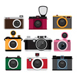 Photo cameras icons set isolated icons vector
