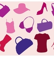 Womens accessories seamless pattern vector