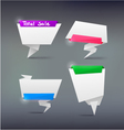 Colorful abstract origami banners design element vector