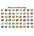 African countries flags icons vector