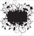 Floral black vector