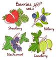 Berries set 3 vector