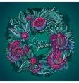 Summer wreath card vector