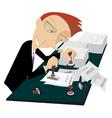 Busy businessman vector