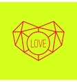 Geometric heart background with lines vector
