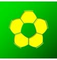 Soccer ball background vector