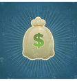 Retro bag of money vector