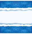 Abstract blue background with torn paper vector