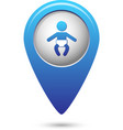 Map pointer with baby icon vector