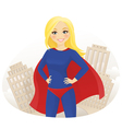 Super hero woman vector