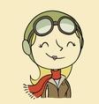 Female aviator vector