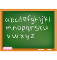 Lower case chalkboard alphabet vector