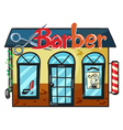 A barber shop vector