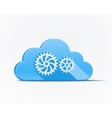 Blue cloud with gears vector
