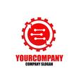 Cog setting logo template vector