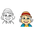 Happy senior grandmother vector