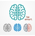 Brain logo set vector