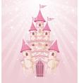 Fairy tale princess castle vector