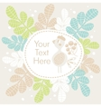 Cute banner with bird and flowers vector