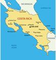 Republic of costa rica - map vector