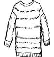Female winter pullover vector