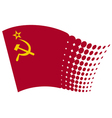 Ussr flag - soviet union flag vector