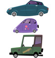 Cartoon cars set isolated on white vector