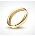 Gold wedding ring isolated vector