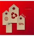 Modern sale infographic background vector
