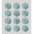 Vintage round icons vector