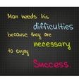 Man needs difficulties vector
