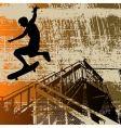 Skateboy grunge vector