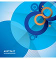 Abstract infinity symbol and circle shape backgrou vector