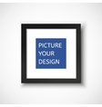 Black frame on the wall for your design vector