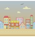 Seamless cartoon town vector