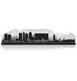 Cape town city skyline silhouette vector