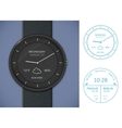 Smartwatch app template vector