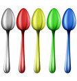 Colourful spoons vector
