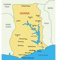 Ghana - map vector