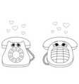Desktop phones vector