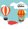 Airballoon design over cloudscape background vector