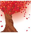 Valentine tree heart vector